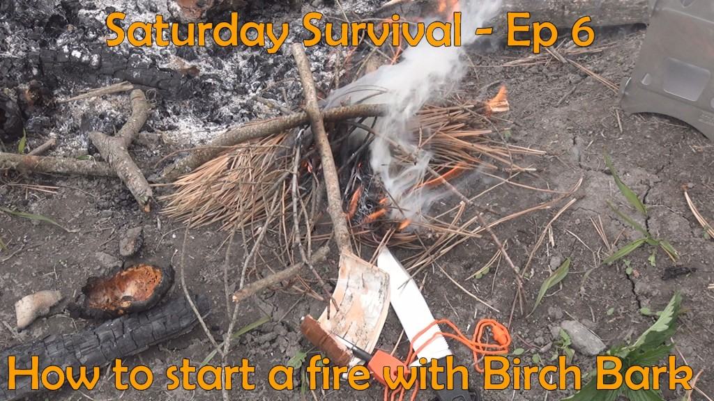 survival saturday 6 how to start a fire with birch bark the outdoor adventure. Black Bedroom Furniture Sets. Home Design Ideas