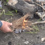 Survival Saturday #8 – How to start a fire using Dryer Lint