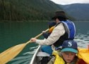 Canoeing at Greenbush Lake, BC