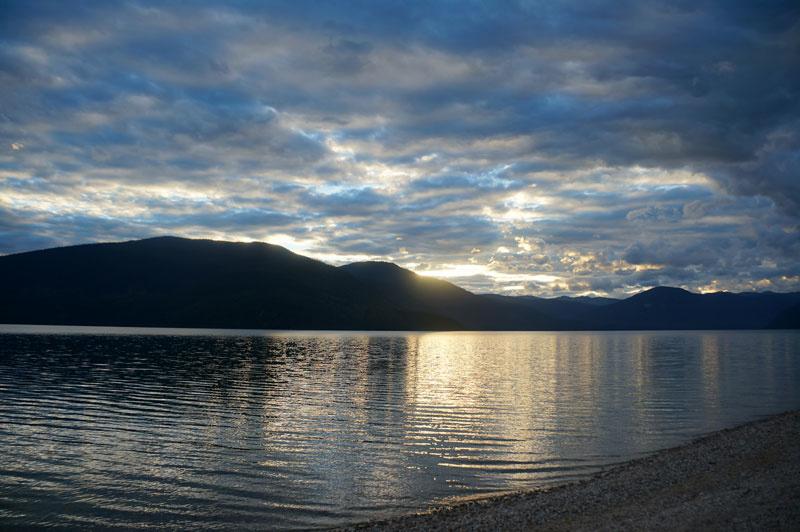 Sunset, Murtle Lake, BC